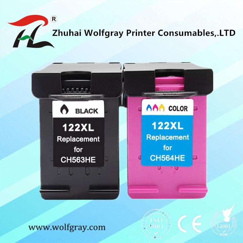 Совместимость для hp 122 XL чернильный картридж для HP 122 122XL чернила для принтеров серий Deskjet 1000 1050A 2000 2050 2050A 3000 3050 3050A 1510 принтер