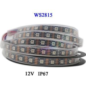 Image 2 - DC12V WS2815 pixel led streifen licht, Address Dual signal Smart,30/60/144 pixel/leds/m Schwarz/Weiß PCB,IP30/IP65/IP67