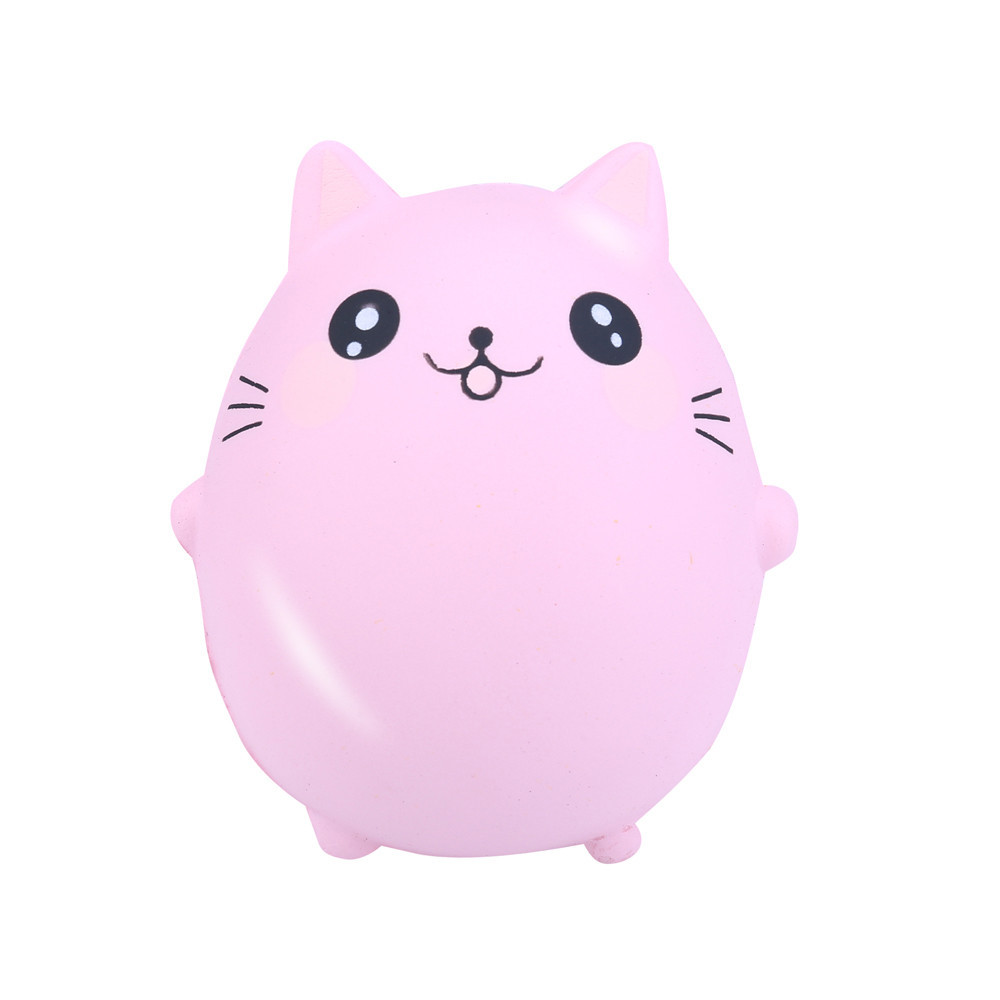 Cute Cat Animals Dolls Antistress Ball Slow Rising Soft Squeeze Toy Kids Kawaii Toy Stress Reliever Decor Animal Toys #B