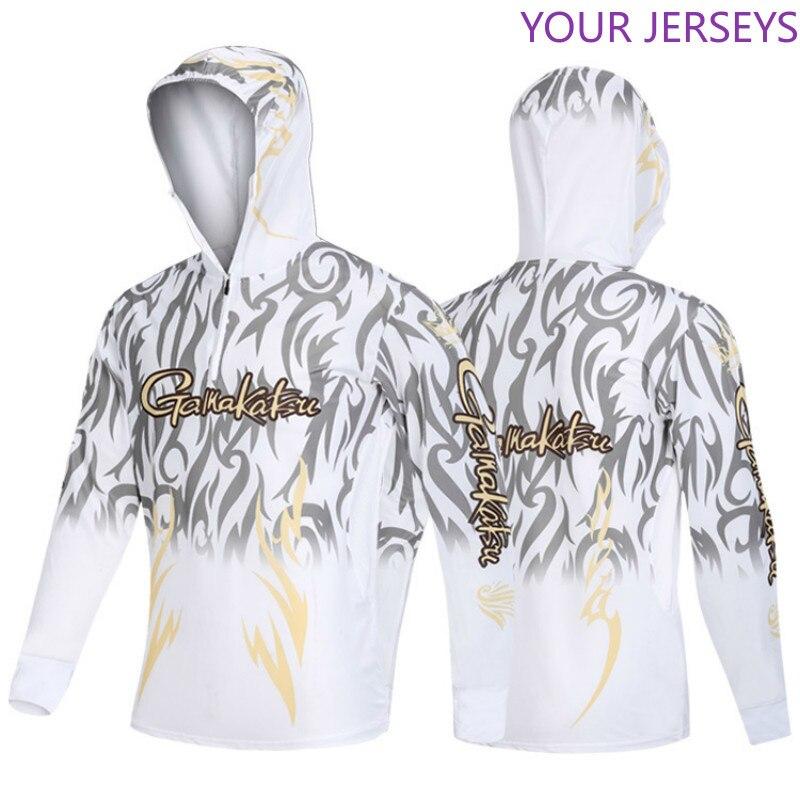 Spor ve Eğlence'ten Balıkçılık Giysileri'de 2020 yaz yeni Gamakatsu uzun kollu balıkçı gömleği hızlı kuru kapşonlu balıkçı kıyafeti Anti UV güneş koruyucu balıkçılık kıyafetleri DAIWA title=