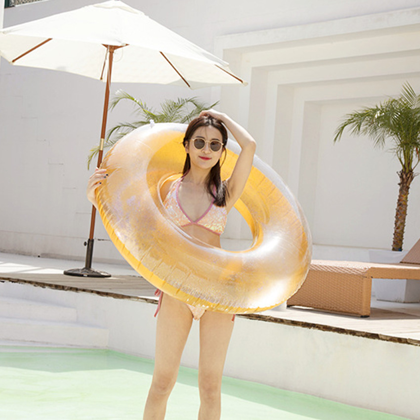 Rooxin Inflatable Circle Swimming Ring for Adult Kids Baby Float Pool Toys Summer Party Pool Swimming Rubber Ring Water Seat