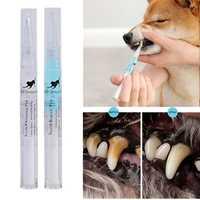 Kit de limpieza de dientes para mascotas, cepillo de dientes de belleza para perros y gatos, piedra de sarro Dental, 3ml