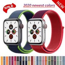 цена на Woven Nylon band strap for apple Series 5 watch band 44mm 40mm 42mm 38mm sport bracelet intelligent watchband for iwatch 4/3/2/1