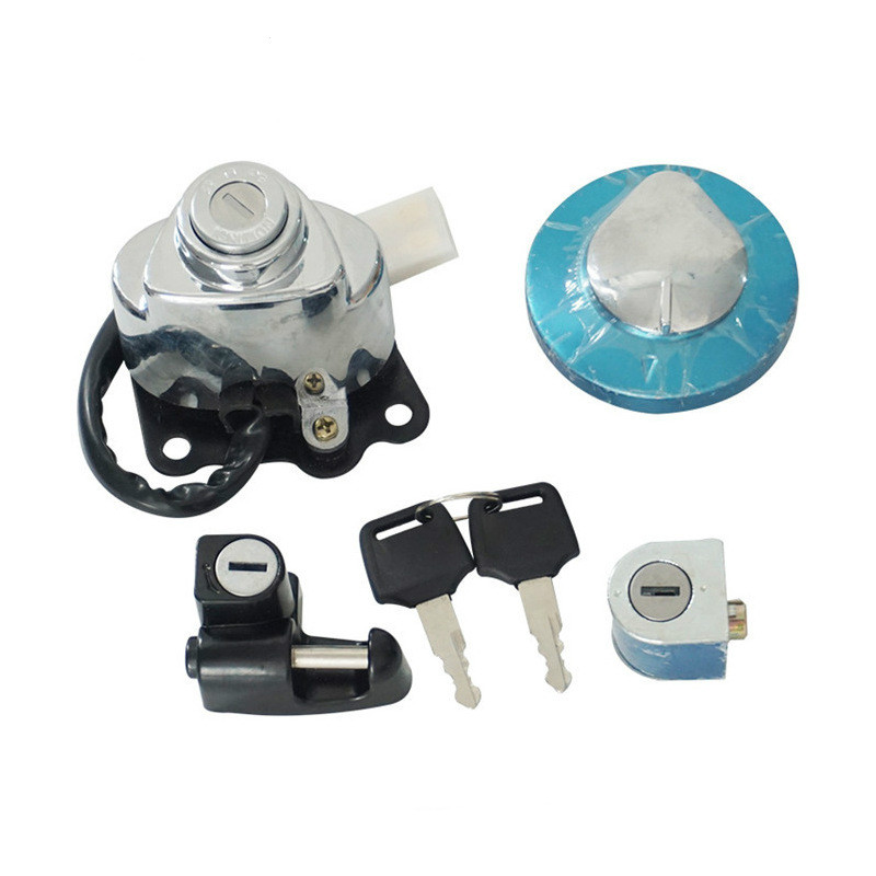 Motorcycle Ignition Fuel Gas Tank Cap Cover Lock For Honda CA250 Steed 400 600 Magna 250 VLX600 VLX400 Steed400 VT250