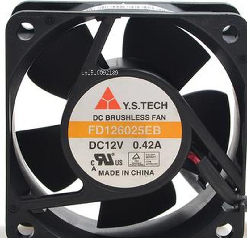 FOR Original Brand 12V 0.23A FD126025EB 6025 6cm Dual Ball Durable Cooling Fan Free Shipping