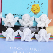 10 Pcs Cute White Wing Angel 3D Resin Charms Slime Clay Accessores Kids Toys Eardrop DIY Crafts Handmade Accessory