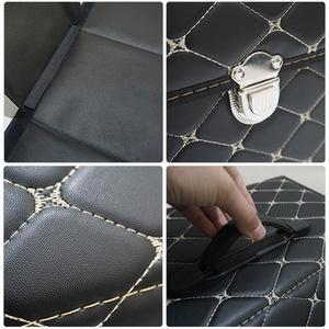 Image 5 - car storage box PU Leather Trunk Organizer Storage Bag color black gold for car accessories car organizer for smart 453 tiguan