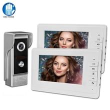 Vídeo de porteiro, campainha 7 tft cor sistema de telefone para casa monitor interno 700tvl câmera externa ir visão noturna