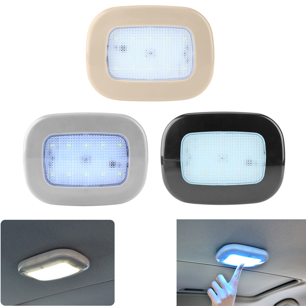 Universal Car Ceiling Reading Light Dome USB Rechargeable Roof Ceiling Magnet Lamp Touch Control Type Home Auto LED Night Light