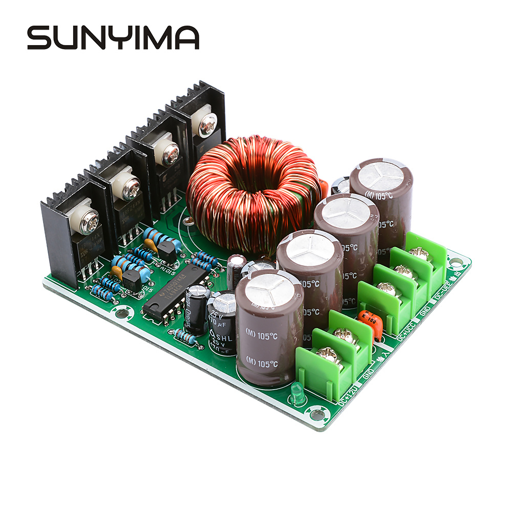 SUNYIMA 180W Single-turn Dual Power Converter <font><b>DC</b></font> 12v Turn Positive And Negative Double <font><b>15V</b></font> 18V 24V Subwoofer Modified Car Audio image