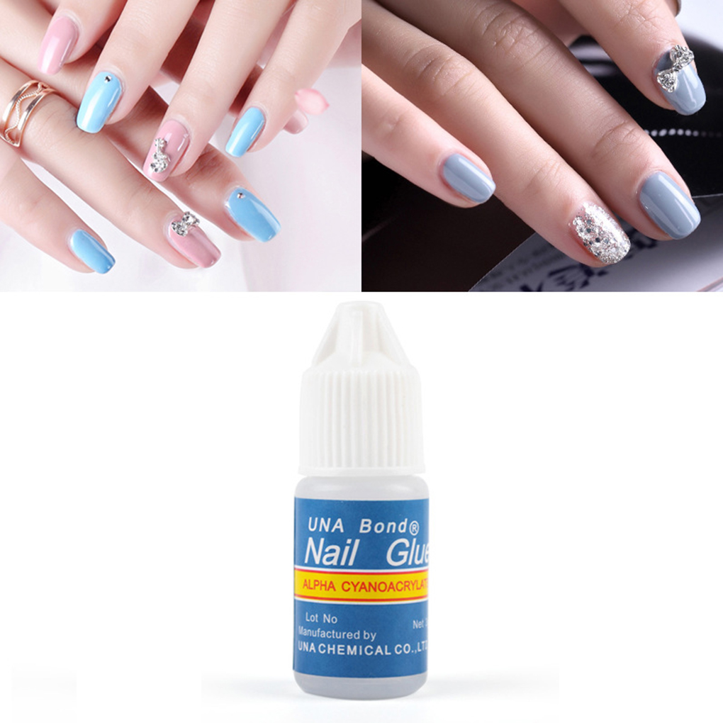 Fast Drying Nail Art Glue Tips Glitter UV Acrylic Rhinestones Decorations Nail Glue False Tip Nail Manicure Tools 5Pcs
