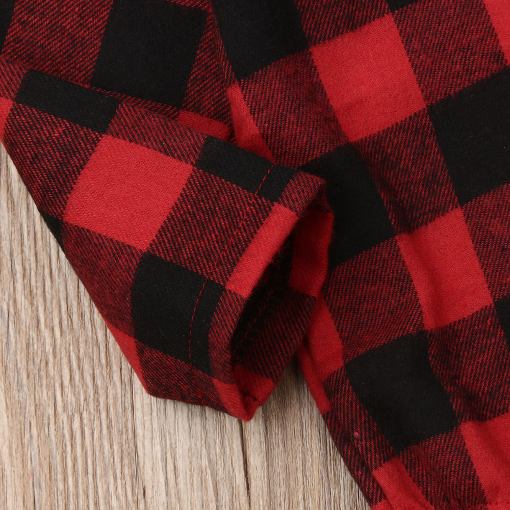 H2988758f466e428093c9a9bbca4c311fP Pudcoco Baby Girls And Boys Unisex Clothes Christmas Plaid Rompers Newborn Baby 0-18 Monthes Fits One Piece Suit Cartoon Elk New