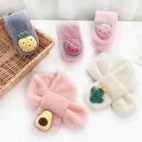 Herbst und Winter Kinder Nette Faux Pelz Obst Kaninchen Im Freien Warm Halten Schal mit Neck Geschenk Baby Mädchen Weiche Schals für Kinder