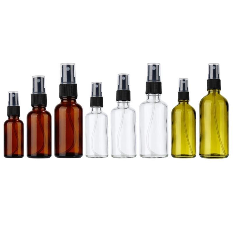 30/50/100 ml Tragbare Leere Flasche Klar Tee Baum Farbige Glas Flasche Lotion Ätherisches Öl Parfüm Flüssigkeit Split Flasche