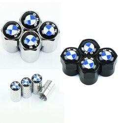 4 sztuk stylizacja sportowa opona samochowodwa nakrętki zaworu Case dla Bmw e46 e90 e60 e39 f30 e36 f10 f20 e87 e92 e30 e91 akcesoria samochodowe|Naklejki samochodowe|   -