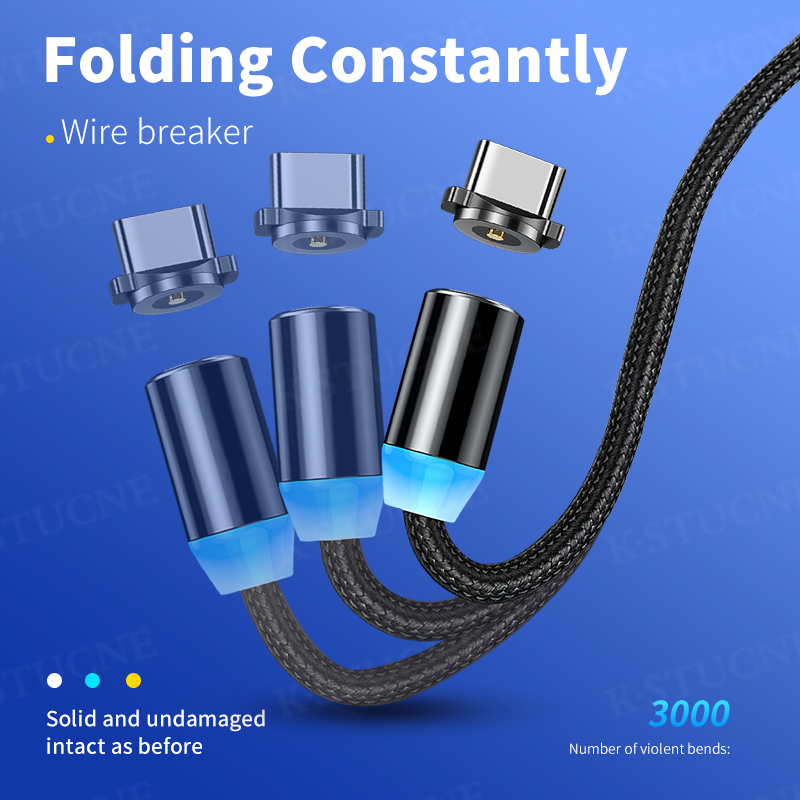 Magnetic Cable lighting 2.4A Fast Charge Micro USB Cable Type C Magnet Charger 1M Braided Phone Cable for iPhone Xs Samsung Wire 2