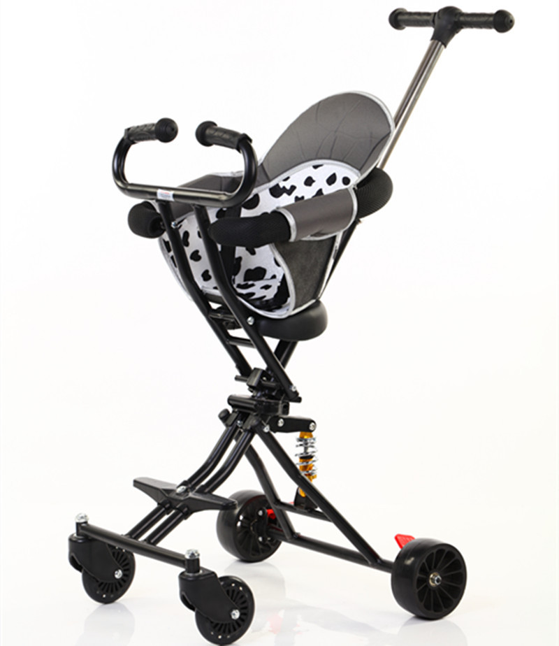 2020 New Simple Four Wheel Baby Stroller Foldable Baby High Landscape Stroller