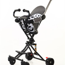 2020 new simple four wheel baby stroller foldable b