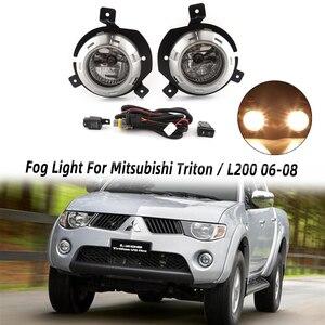 MIZIAUTO противотуманный светильник для Mitsubishi Triton / L200 2006 2007 2008 противотуманная фара с переключателем жгутов покрывает комплект противотуманны...
