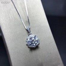 MeiBaPJ высокое качество Moissanite Алмазный цветок кулон ожерелье для женщин Настоящее серебро 925-й пробы ювелирные изделия