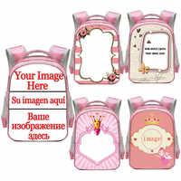 Customize Your Image / Logo / Name Backpack Children School Bags for Kindergarten Girls Cute Book Bag Baby Toddler Backpacks