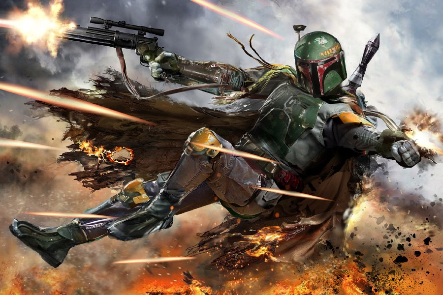star wars Boba Fett Video game movie Art Film Print Silk Poster Home Wall Decor 24x36inch image