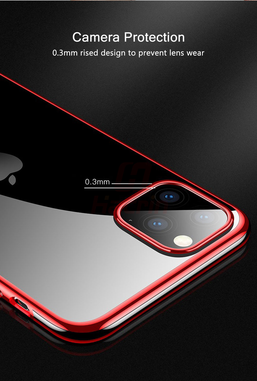 Hacrin Transparent TPU Silicone Case for iPhone 11/11 Pro/11 Pro Max 34