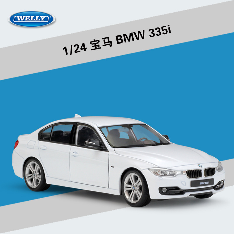 Welly 1:24 BMW 335i Alloy Car Model Diecasts & Toy Vehicles Collect Gifts Non-remote Control Type Transport Toy