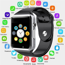 цена на 2019 A1 Smart Watch Clock Sync Notifier Support SIM TF Card Connectivity Apple iphone Android Phone Smartwatch PK V8 GT08 Y1