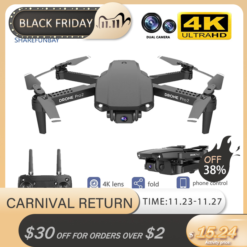 new 2020 E99 drone 4K HD dual camera foldable drone with wifi FPV 1080p real-time transmission 50 times focus RC Quadcopter