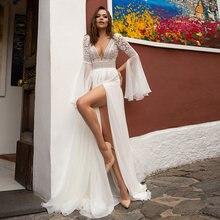 2020 богемные Свадебные платья сексуальный v образный вырез