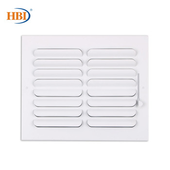 HBI 2-Way W10 x H8 Curved-Blade Ventilation Grille Air Outlet Valve Air Supply Register Air Vent Cover Steel Ceiling/Sidewall curved air curved air airborne cd digisleeve