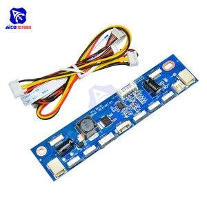 Diymore multi-função inversor para luz de fundo led placa de driver de corrente constante 12 conectores led strip tester