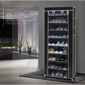 Image 2 - 9 Lattices ชั้นวางรองเท้า Tower Nonwoven ผ้ารองเท้าตู้เก็บรองเท้าตู้รองเท้าประหยัดพื้นที่ชั้นวางของ US Stock