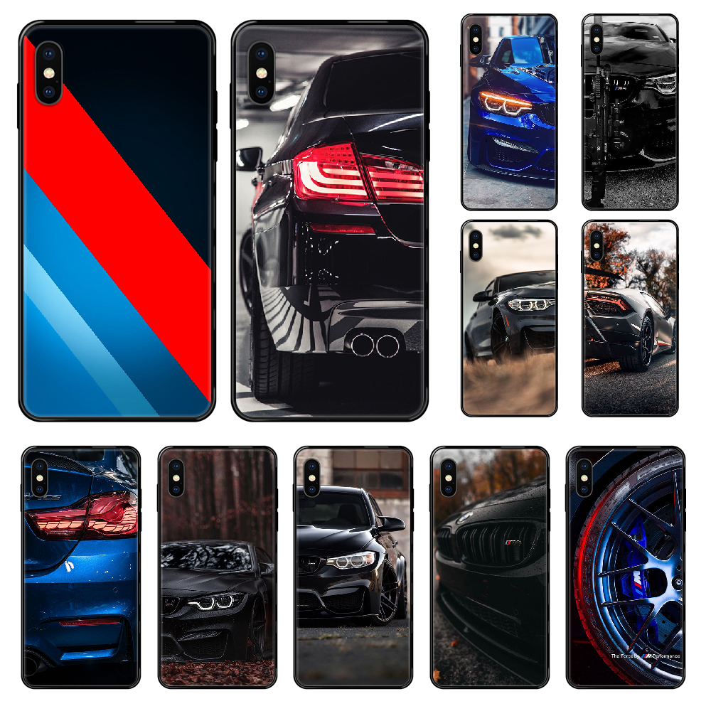 BMW racer sports car Phone case For iphone 4 4s 5 5S SE 5C 6 6S 7 8 plus X XS XR 11 PRO MAX 2020 black pretty Etui painting image