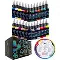 OPHIR Airbrush Vernice Acrilica 24 Colori Airbrush Vernice di DIY per il Modello Scarpe di Cuoio Pittura Airbrush Inchiostro del Pigmento FAI DA TE TA005 (1 24)