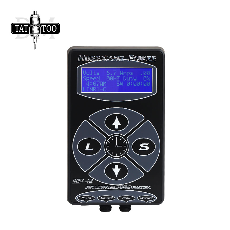 HP-2 Digital LCD Tattoo Power Supply Hurricane Rotary Tattoo Machine Tattoo Supplies Permarent Makeup Tattoo Power Supply