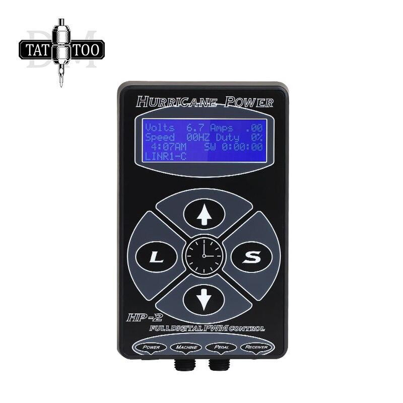 Hp-2 Digitale Lcd Tattoo Voeding Hurricane Rotary Tattoo Machine Tattoo Supplies Permarent Make-Up Tattoo Voeding
