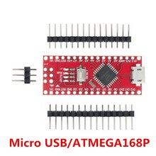 Nano micro usb com o bootloader compatível nano v3 controlador vermelho para arduino ch340 usb driver 16mhz nano v3.0 atmega168p