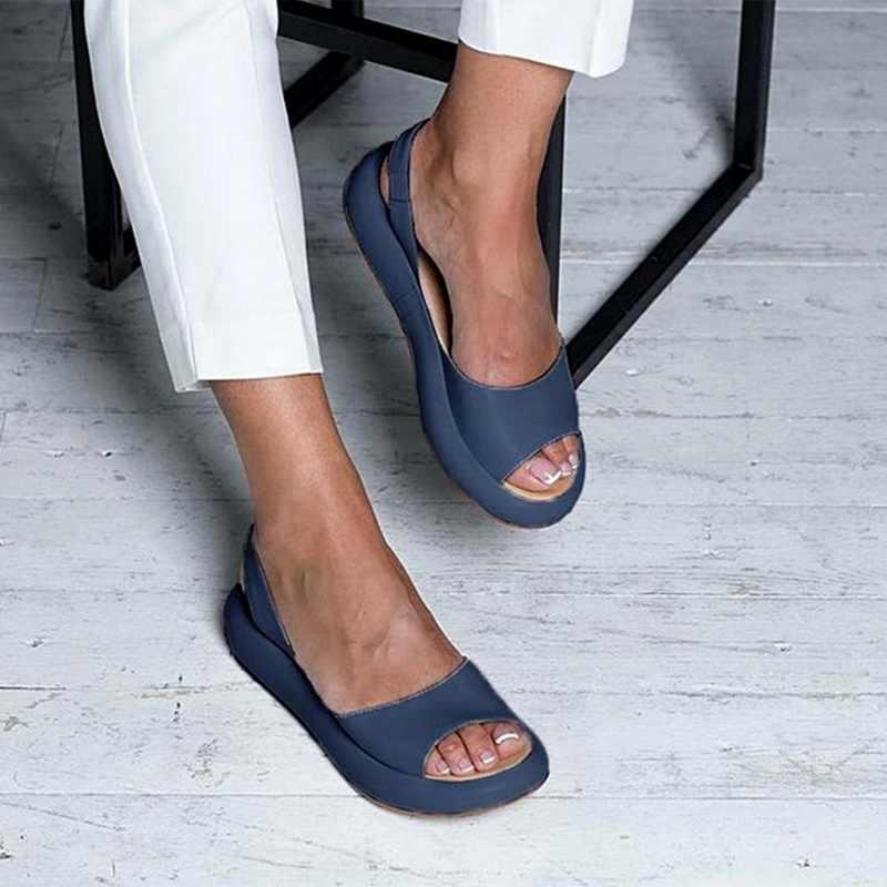 Kadın sandalet flop moda roma Slip-On nefes kaymaz ayakkabı kadın slaytlar katı Casual kadın 2020 Dropshipping