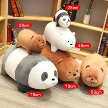 Enorme urso natural de pelúcia, brinquedos, crianças, animais de pelúcia, figura dos desenhos animados, boneca de pelúcia, travesseiro macio, bonito, crianças, aniversário do bebê presente