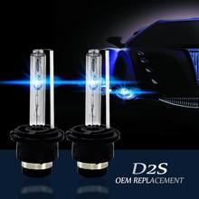 2 uds. Bombillas de faro delantero de coche brillantes D2S/D2C/D2R 35W, bombillas de faros de xenón, accesorios de luces de repuesto OEM