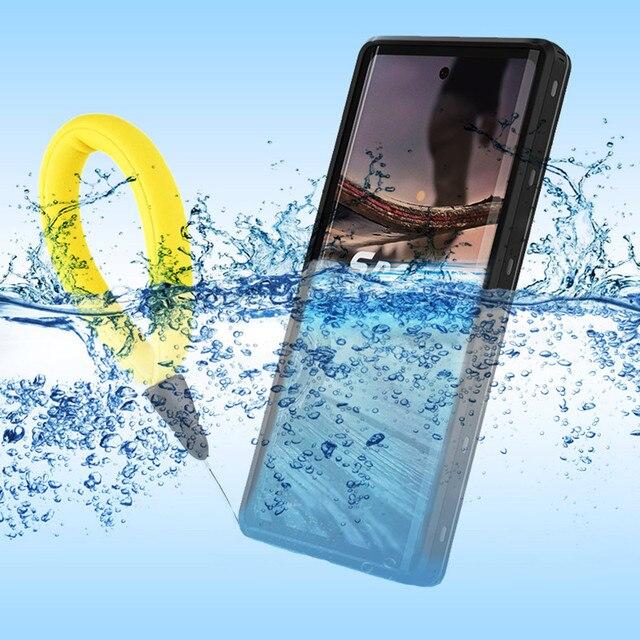 100% Étanche étui pour samsung Note 10 S8 S9 S10 Plus Sous Leau Natation étuis pour samsung Note 9 10 Plus avec Support