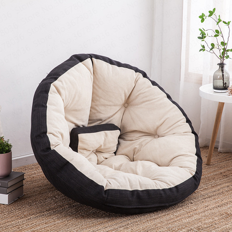 17% Comfortable Bean Bag Chair Lazy Couch Single Bean Bag Recliner Small Apartment Bedroom Cute Girl Tatami Living Room Sofa