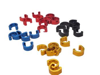 10 sztuk przewód rowerowy C-klamerki MTB hamulec motocyklowy kabel Deducation C-klip klamra zacisk przerzutka kabel do przerzutek obudowa wąż tanie i dobre opinie