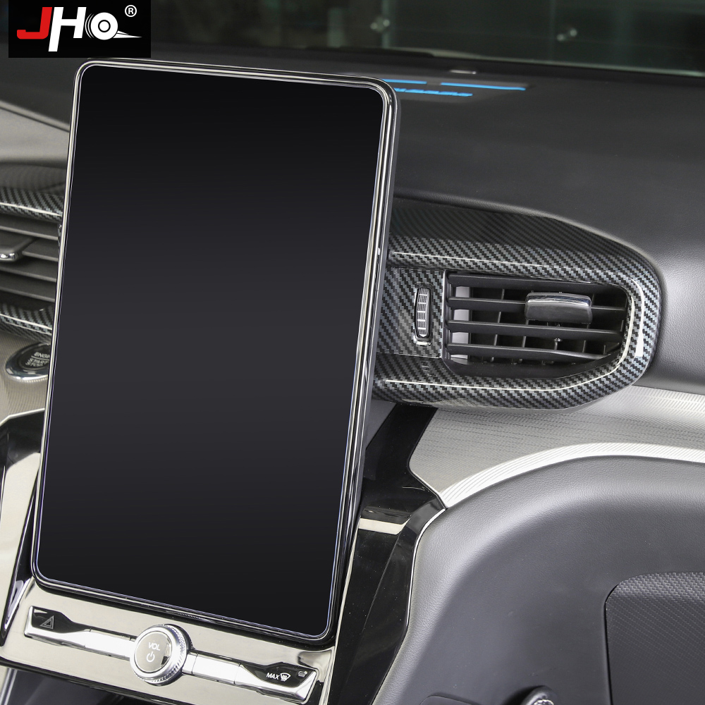 Купить jho abs углеродное зерно автомобильная центральная консоль панель