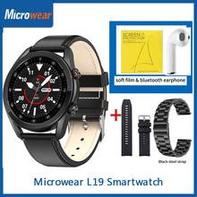 Prezent Microwear L19 Smartwatch IP68 wodoodporny Bluetooth Call miernik tętna ekg Tracker do monitorowania aktywności fizycznej VS DT95 L16 inteligentny zegarek tanie tanio CN (pochodzenie) Android OS Na nadgarstku Wszystko kompatybilny 128 MB Passometer Fitness tracker Uśpienia tracker