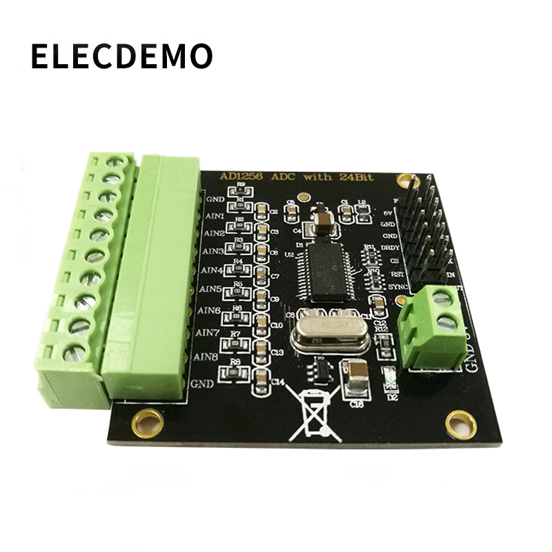 ADS1256 Module 24-bit ADC AD Module High Precision ADC Acquisition Data Acquisition Card Analog To Digital Converter