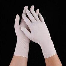 1% 2F 2% 2F10 шт. Белый одноразовый промышленный экзамен перчатки эластичный латекс перчатки без пудры нетоксичный бытовой кухня защита инструменты
