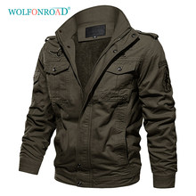 WOLFONROAD Jacket Men Winter Outdoor Fleece Jackets Thicken Military Tactical Jacket Army Pilot Air Force Cargo Jackets Overcoat(China)